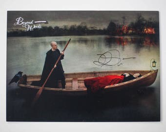 Signed Lev Grossman *8x10* photo print from the 2016 Beyond Words fantasy author calendar