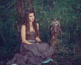 Limited Edition 8x8 Fantasy Print featuring an Eurasian Eagle Owl | Owl, Fantasy, bird of prey, Eurasian Eagle Owl, Dark, Magical