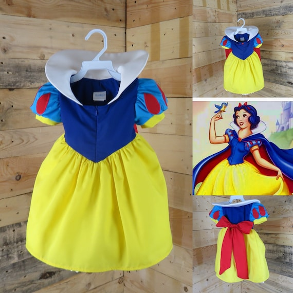 0 size baby Snow White princess dress gift baby shower, baby dress party of the month. Newborn girl dress, baby girl toddler, dress and capo