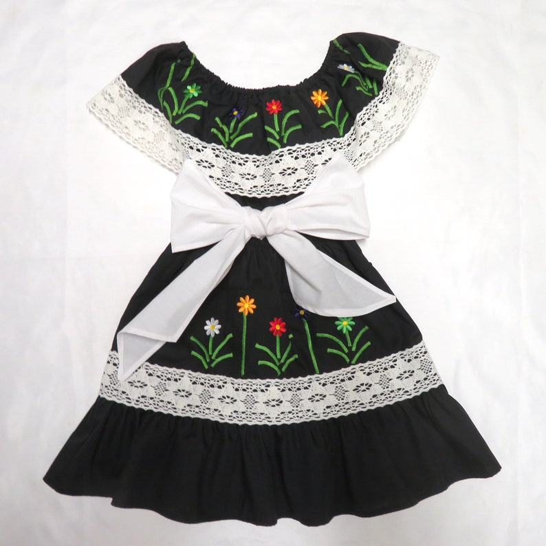 f3c8b0a8bec Mexican baby dressblack Mexican baby dress little girl
