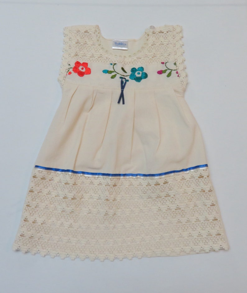 89b01a7b5 18m, Mexican baby dress, mexican lace baby dress, hand embroidered baby  dress, baby dress, baby mexican dress, casual floral ...