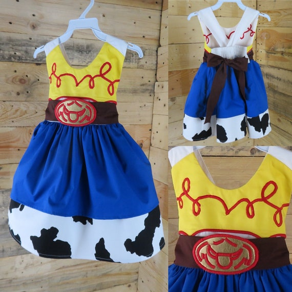 0 size baby dress inspired in Jessie of toy story gift baby shower, newborn girl baby dress, baby toddler girl  dress, baby party months.