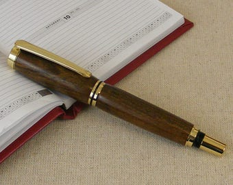 Wood fountain pen, turned pens, wooden pen, turned wood, meaningful gifts, gifts for her, gifts for him, inexpensive gifts, author