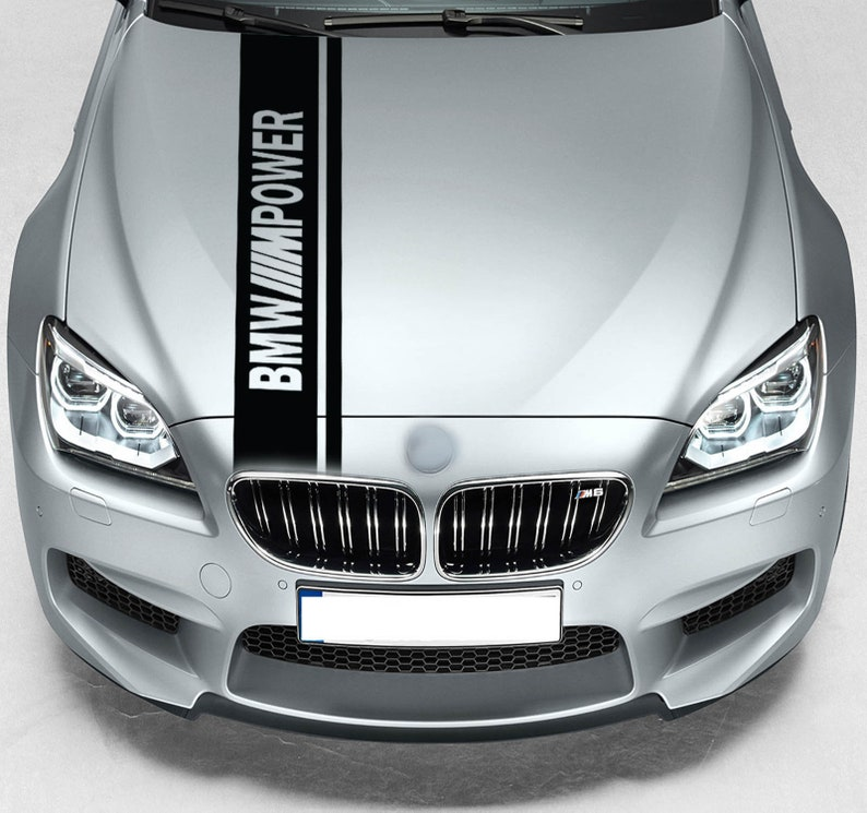 Per BMW M Power Rally doppio cappuccio striscia auto vinile  011ef5a2cd4b