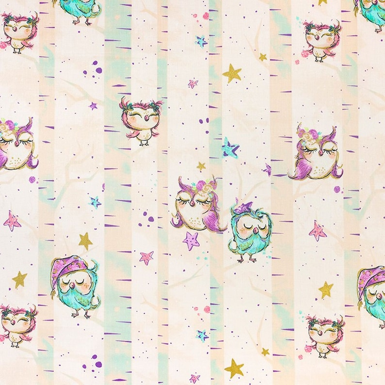 Owls on Pink or on Light PinkOrange 100/% Cotton Fabric Material By The Metre 160 cm Wide For Quilting Curtains Crafts Soft Furnishings