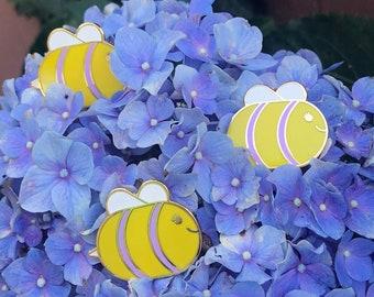 ChubBee! - Gold Hard Enamel Glitter Pin | Cute Bee Pin | You're My Honey, Bee!