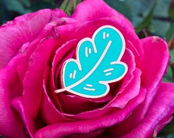 A New Leaf - Rose Gold Hard Enamel Pin | Nature Lapel Pin