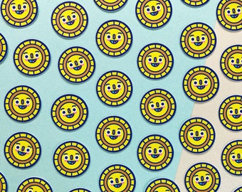 Sunny - Mini Matte Vinyl Sticker | Cute Sunshine Sticker | Durable Star Decal