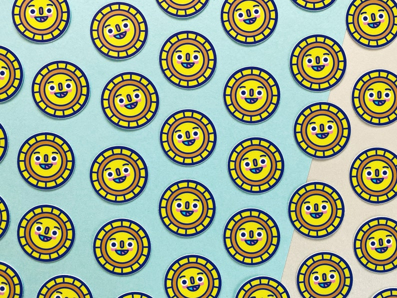 Sunny  Mini Matte Vinyl Sticker  Cute Sunshine Sticker  image 1
