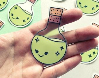 Potion Pal - Clear Vinyl Sticker | Cute Magic Sticker | Waterproof Science Decal