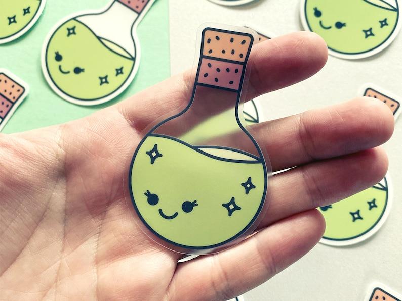 Potion Pal  Clear Vinyl Sticker  Cute Magic Sticker  image 1