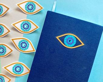 All-Seeing Eye - Clear Vinyl Sticker | Cute Moon Eye Sticker | Waterproof Decal