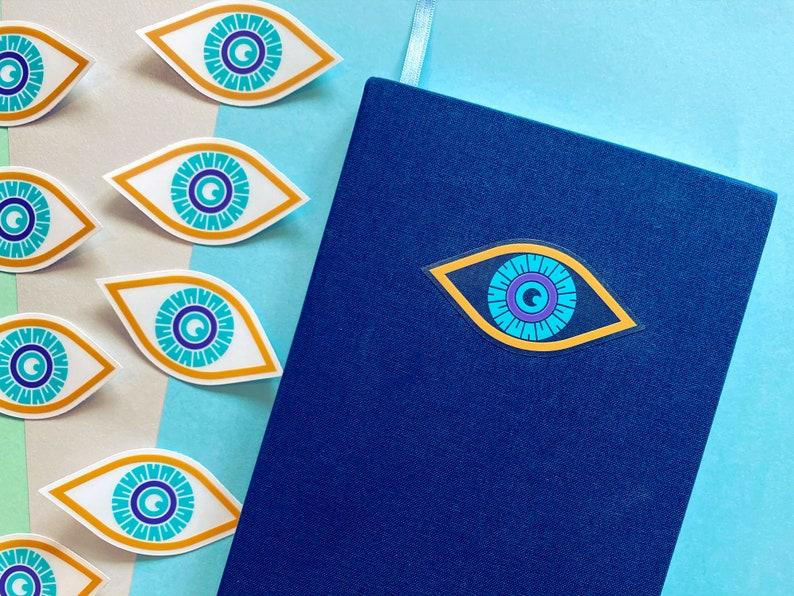All-Seeing Eye  Clear Vinyl Sticker  Cute Moon Eye Sticker  image 1