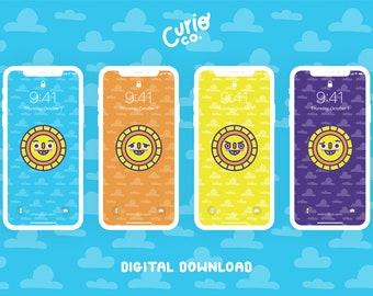 Sunny Mobile Wallpaper Pack | Sunshine Phone Background Bundle | Digital Download