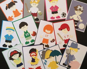 Custom Paper Doll Cards