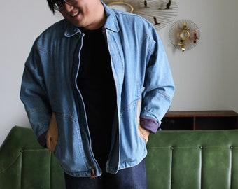 ad32b5b8bbf0c Baggy denim jacket m | Etsy