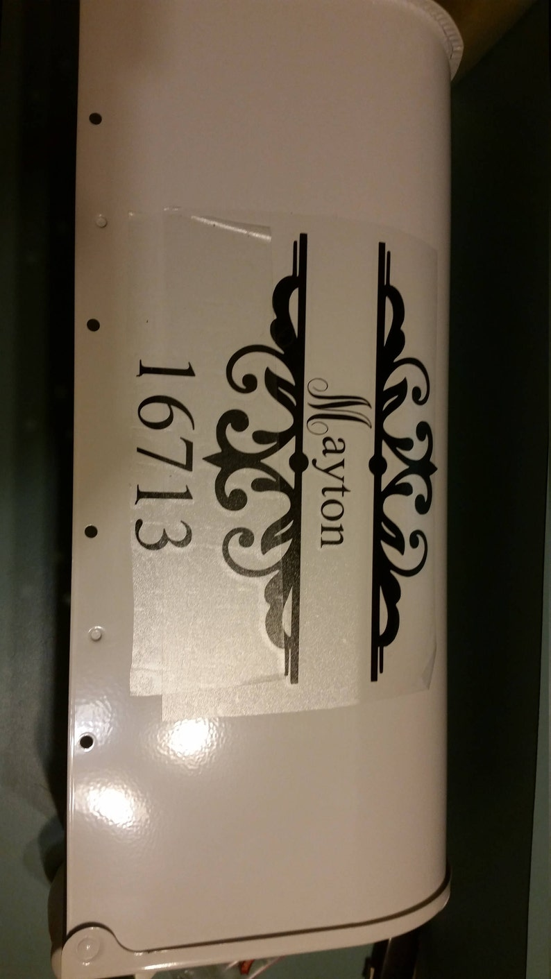 Mailbox Address Vinyl Decal Stickers Mail Box Vinyl Numbers Mailbox Curb Appeal Mailbox Decals House Numbers Home Address
