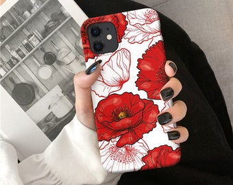 Poppy Flowers iPhone 11 Pro Max case iPhone XR case iPhone XS Max Apple Case iPhone X Case iPhone 7 Plus iPhone 8 Plus case iPhone 6 o89