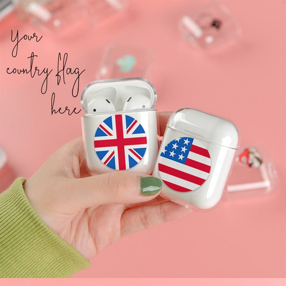 Floral Customized AirPod Case with keychain AirPods Pro case Protective Initials Monogram Name Airpods Case Hard personalized a3 a99