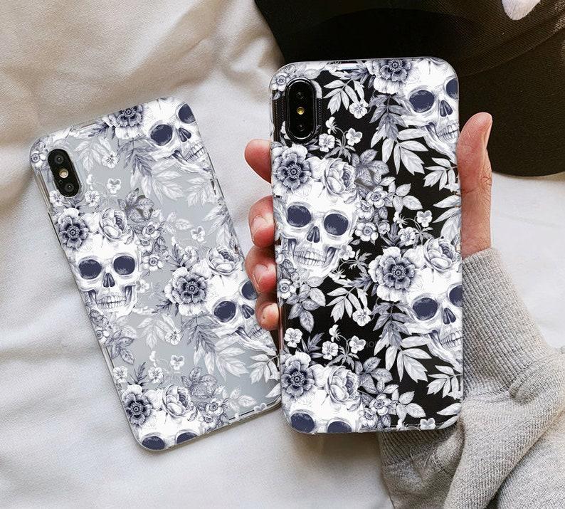 Clear Skull Samsung Galaxy A50 a70 a30 a40 case Samsung Galaxy image 0