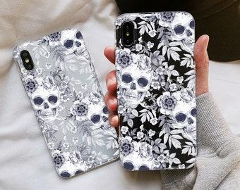 Skull phone case Google Pixel 3 case, OnePlus 7 case, Pixel 3a XL case, Google Pixel 2, pixel 2 case, pixel 3a case, cover pixel 3 case 32