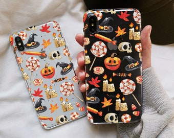 iPhone XS Max iPhone XS XR, case, Halloween, iphone 8 plus case, halloween phone case, iphone 6s plus, Samsung Galaxy  S9 Note 9 S7 case 97