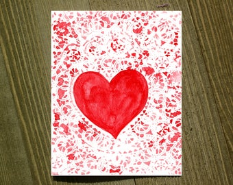 Pack of 12 with envelopes Heart Note card sets featuring designs by Jackie Rizzo