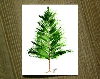 Evergreen Tree - Note card sets featuring designs by Jackie Rizzo - Pack of 12 with envelopes