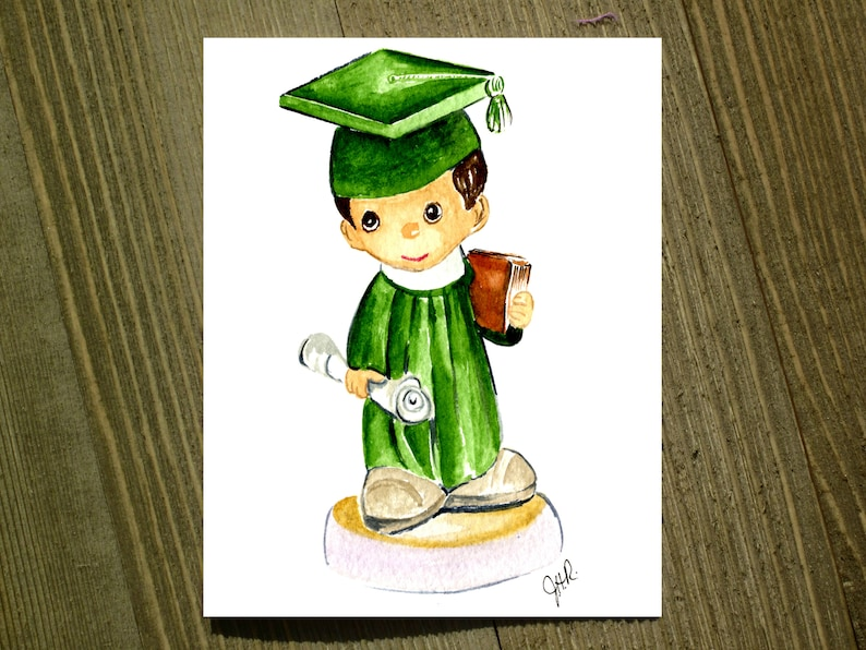 Boy Grad Pack of 12 with envelopes Note card sets featuring designs by Jackie Rizzo