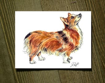 Welsh Corgi - Note card sets featuring designs by Jackie Rizzo - Pack of 12 with envelopes