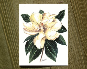 Magnolia - Note card sets featuring designs by Jackie Rizzo - Pack of 12 with envelopes