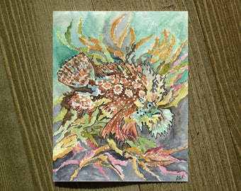 Angelfish - Note card sets featuring designs by Jackie Rizzo - Pack of 12 with envelopes