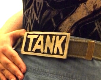 Tank Girl Belt Buckle Pewter