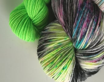 Sock Set. Hand Dyed NZ Sock Knitting Yarn. Fortune Favours the Bold