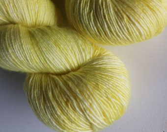 Yellow Hand Dyed Merino Silk Single Ply - Butterfingers !