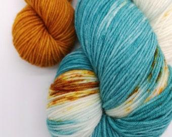Sock Set. Hand Dyed Sock Knitting Yarn. Dockside Mooring