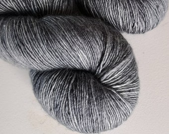 Grey Hand Dyed Merino Silk Single Ply - A Perfect Storm