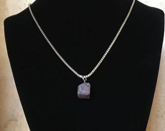 Wilsonite necklace - Polished stone on stainless steel chain