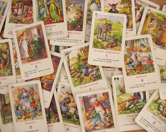 Vintage Card Game Quartet ~ To Fairy Tales of Brothers Grimm