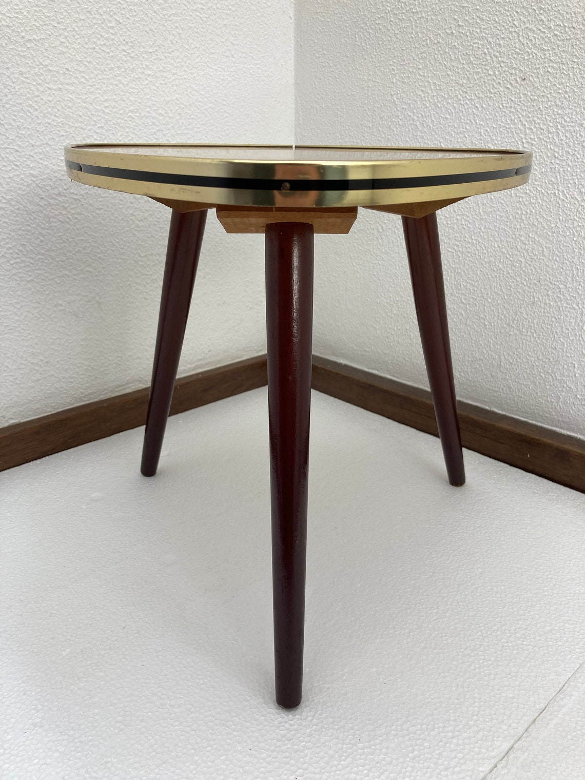 Vintage Midcentury Formica Site Table - Plant Stand - Tripod - 50's / 60's