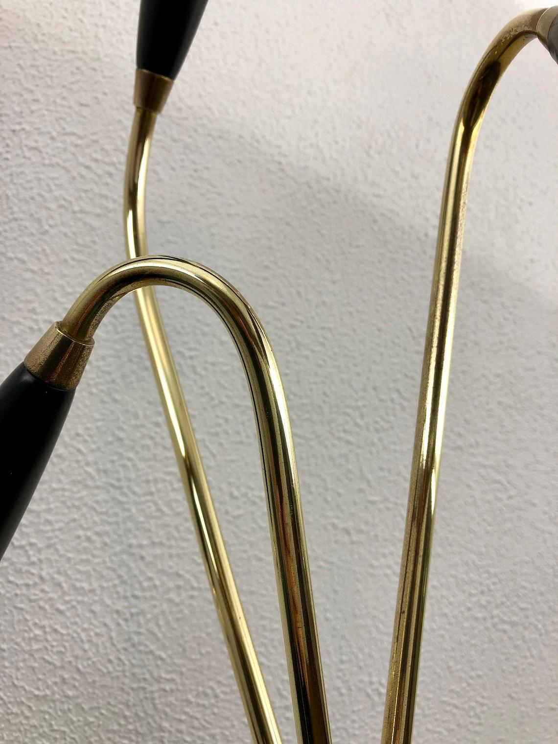 Brass Tripod Table 3 Light - 60's Modern Lamp - Mid Century - Eclairage