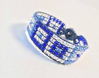 loom beaded cuff bracelet