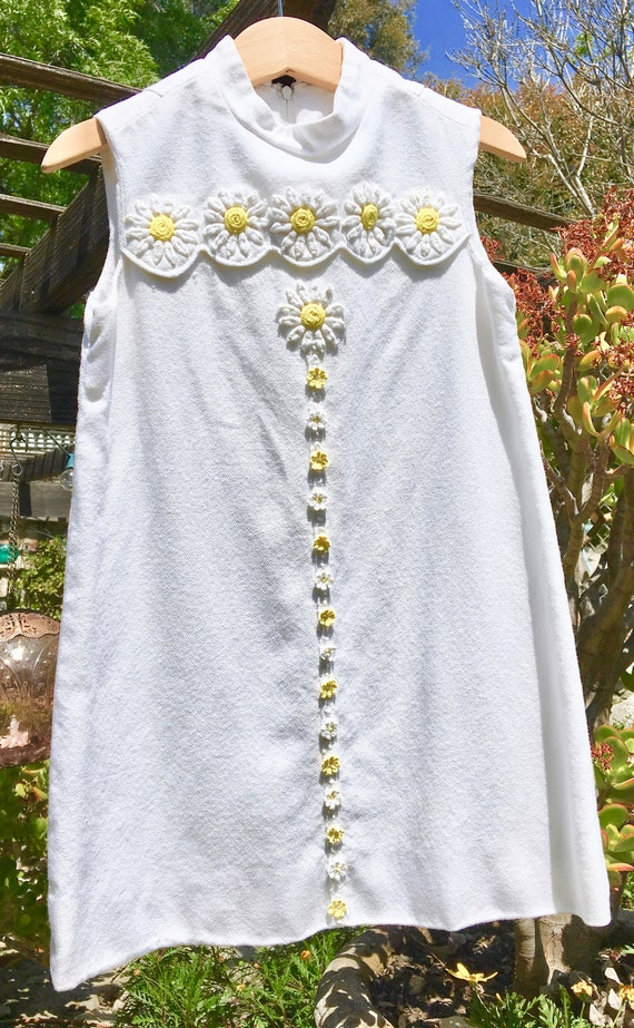 Adorable Vintage 60's Daisy Shift Tunic Girls 5/6