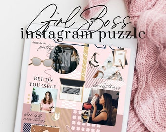 Instagram Puzzle Canva Template - GIRL BOSS 1