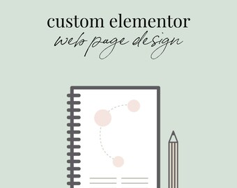Custom Elementor Landing Page Website Design