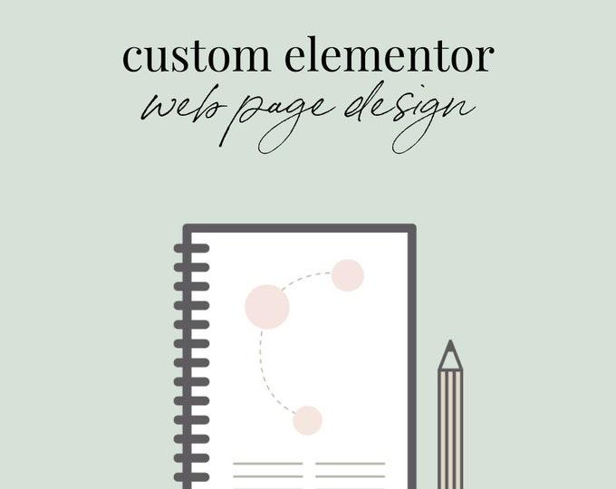 Custom Elementor Landing Page Website Design
