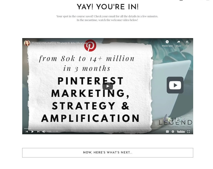 4 Thank You Page Options - Elementor Templates | Landing Page for Elementor | Email Sign Up Form for WordPress Websites