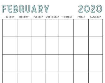 12-Month Calendar Canva Template - Vertical Calendar Template