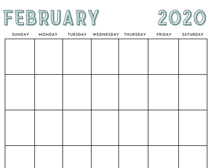 12-Month Calendar Canva Template - Vertical Calendar Template