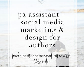 PA Assistant - Social Media Marketing Plan for Authors | Design for Authors | Book Marketing | Annual